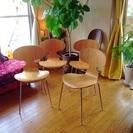 デザイナーズチェアー 5万円相当 4客セット アントチェア リプロダクト 北欧家具 ヤコブセン ほぼ新品の画像