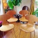 デザイナーズチェアー 5万円相当 4客セット アントチェア リプロダクト 北欧家具 ヤコブセン ほぼ新品 - 板橋区