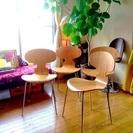 デザイナーズチェアー 5万円相当 4客セット アントチェア リプロダクト 北欧家具 ヤコブセン ほぼ新品 - 家具