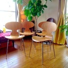 デザイナーズチェアー 5万円相当 4客セット アントチェア リプロダクト 北欧家具 ヤコブセン ほぼ新品 - 売ります・あげます