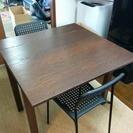 IKEA制ダイニングテーブル&椅子×2(BJRSTA ADDE×2...