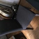 IKEA ダイニングチェア ダークグレー 木製