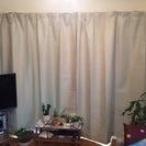 【受付終了】アイボリーのカーテン100×178cm2枚セット