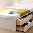 【取引完了】セミダブル収納ベッド(組み立て式)お譲りします