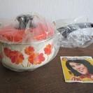◆昭和レトロ◆ミッチホーロー・片手鍋・花柄・未使用・16㎝琺瑯の画像