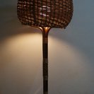 オシャレな木編みの置き照明☆