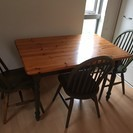 ダイニングテーブル&椅子4脚のセット