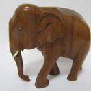 【象】木彫り◆木製◆ゾウ◆置物◆オ...