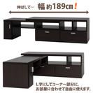 取引中 【〜10月末まで 引取限定】東京 引出し付 ローテーブル L字変更可能 の画像