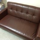 革ソファー、無料であげます。