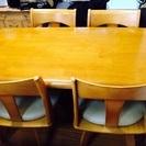 交渉中です。☆無料☆ダイニングテーブル+回転椅子4脚