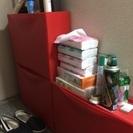 赤、シューズケース、IKEA