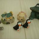 くまのぷーさん★ミッキーマウス★など小さな置物6こ