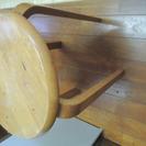 差し上げます・木の丸椅子