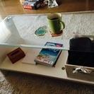 ガラス天板のコーヒーテーブルをお譲りします