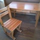 机と椅子です。直接引き取り希望 (引き取り完了)