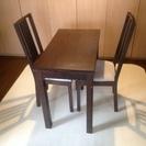 【譲渡済】IKEA ダイニングセット 伸長式ダイニングテーブル&イ...