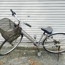 27インチ ギア6段式 シルバー自転車 T字