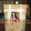 日本人形、差し上げます。(未開封・美品・ガラスケース付き・外箱付き)