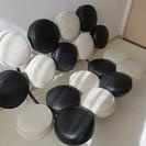 マシュマロソファ デザイナーズ家具 白×黒レザー - 札幌市