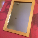 無印良品 卓上鏡(木製枠) 中古