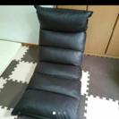 カバー付き!低反発リクライニング座椅子(ダークブラウン)