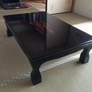 和風、黒、テーブル、座卓