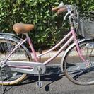 シティサイクル(26型) 前輪パンクあり
