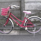 【交渉中】メゾピアノ 22インチ自転車 バック付き
