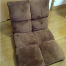 【美品・無料にしました】ブラウン座椅子