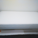 美品!無印脚付きマットレス(シングルベッド)無印のカバー&ベッドパ...