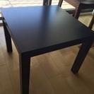 IKEA正方形テーブル 木目調ブラック