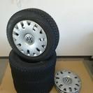 【引き取り先が決定しました】スタットレスタイヤセット PCD100 5穴 iceGUARD VWポロにて使用の画像