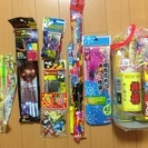 打ち上げものなど、花火をいろいろ500円で売ります
