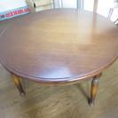 大塚家具 定価8万のヨーロッパ調の丸いテーブル