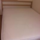 無印良品クイーンサイズベッド(タモ材)と高密度ポケットコイルマットレス
