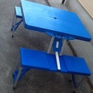アウトドア 折り畳みテーブルチェア 4人用 売却済