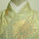 大島紬(正絹、袷、花格子)