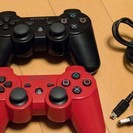 【終了】PS3 純正コントローラー×2 箱なし・充電ケーブル付き