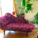 急ぎで週末まで【寝椅子 2人用ソファー 】イタリア 猫足 ロココ調...