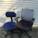 【終了】事務椅子 キャスター付 2脚セット