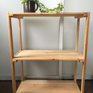 【お譲り完了】ウッドシェルフ2段 木製