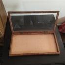 アンティークなガラスケース 木箱 ディスプレイ