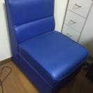 【引取済】急募!椅子 1人用ソファ 青