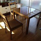ダイニングセット(テーブル0.8×0.8/椅子2脚)ソファ(約0....