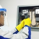 電量メーターの交換作業