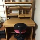 【終了】勉強机と回転椅子(おまけ付き)