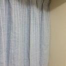 ナチュラルテイスト☆ブルー×ホワイトストライプカーテン