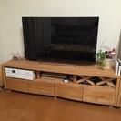 アルダー天然木 テレビボード・幅164cm