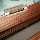 木製のブラインドです